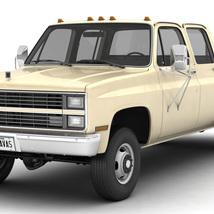 GENERIC 4WD DUALLY PICKUP TRUCK 6 - EXTENDED LICENSE image 1