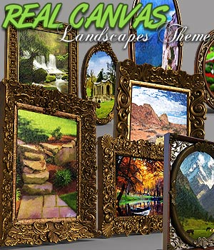 Real Canvas Landscapes Theme for DS Iray 3D Models powerage
