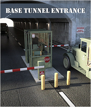 Base Tunnel Entrance for Daz Studio 3D Models Notilize
