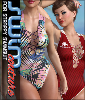 SWIM Couture for Strappy Swimsuit 3D Figure Assets Sveva