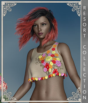 Resort Collection for Summer Spirit 3D Figure Assets sandra_bonello