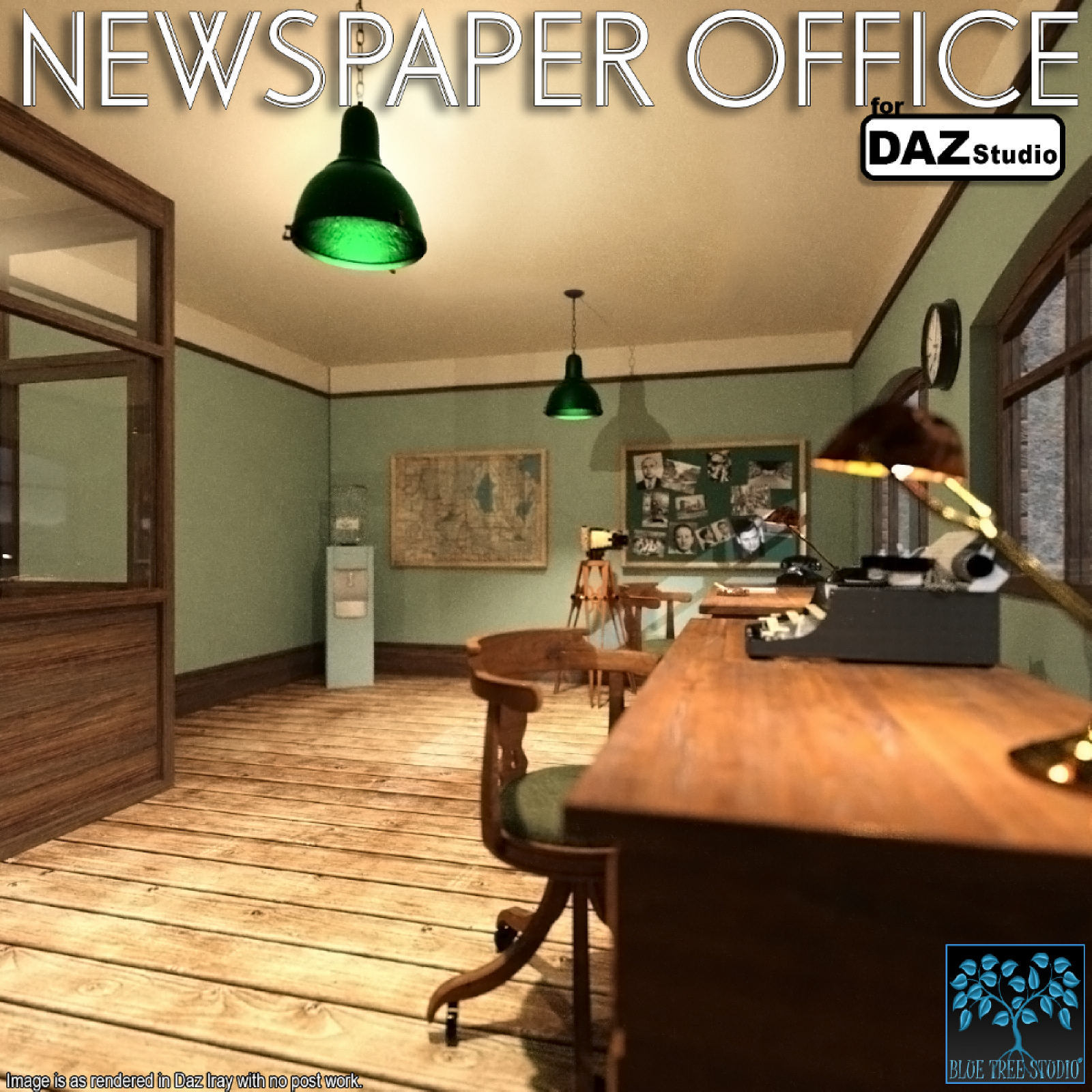 Newspaper Office for Daz Studio by BlueTreeStudio