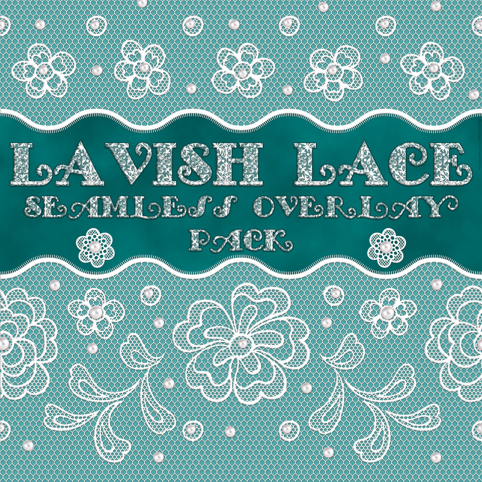 Lavish Lace Seamless Overlays with Bonus by fractalartist01
