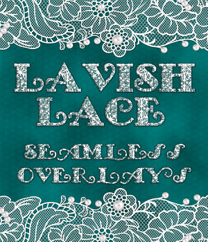 Lavish Lace Seamless Overlays with Bonus 2D Graphics Merchant Resources fractalartist01