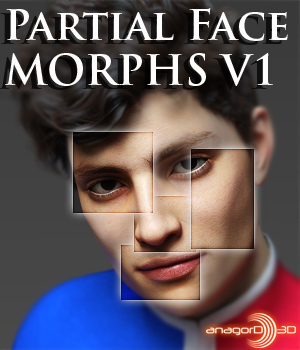 Partial Face Morphs G8M Vol 1 3D Figure Assets Merchant Resources Anagord
