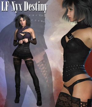 RP NyX Destiny for LaFemme 3D Figure Assets La Femme Female Poser Figure RPublishing