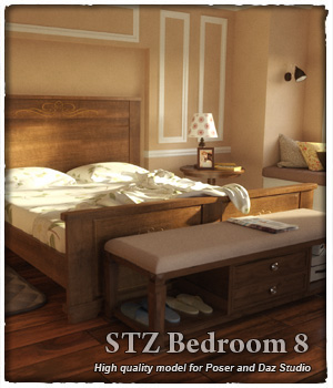 STZ Bedroom 8 3D Models santuziy78