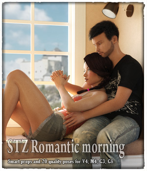 STZ Romantic morning 3D Figure Assets santuziy78