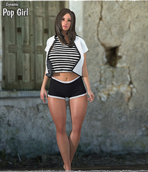 Dynamic Pop Girl V4 LaFemme 3D Figure Assets La Femme Female Poser Figure ShaaraMuse3D