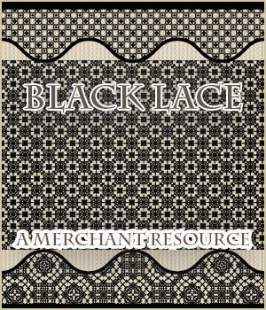 Black Lace Merchant Resource 2D Graphics Merchant Resources adarling97