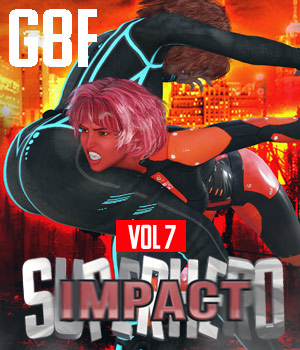 SuperHero Impact for G8F Volume 7 3D Figure Assets GriffinFX