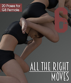 ALL THE RIGHT MOVES vol.6 for Genesis 8 Female 3D Figure Assets PainMD