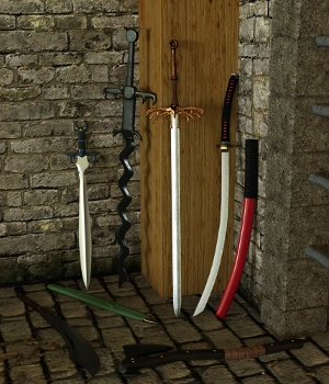 Fantasy Weapon Set One for Genesis 8 3D Models Deacon215