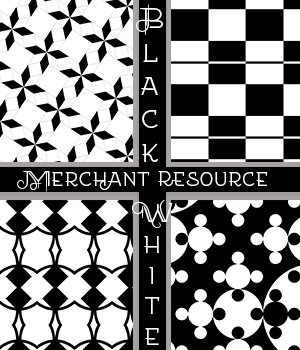 Black and White Merchant Resource 2D Graphics Merchant Resources adarling97