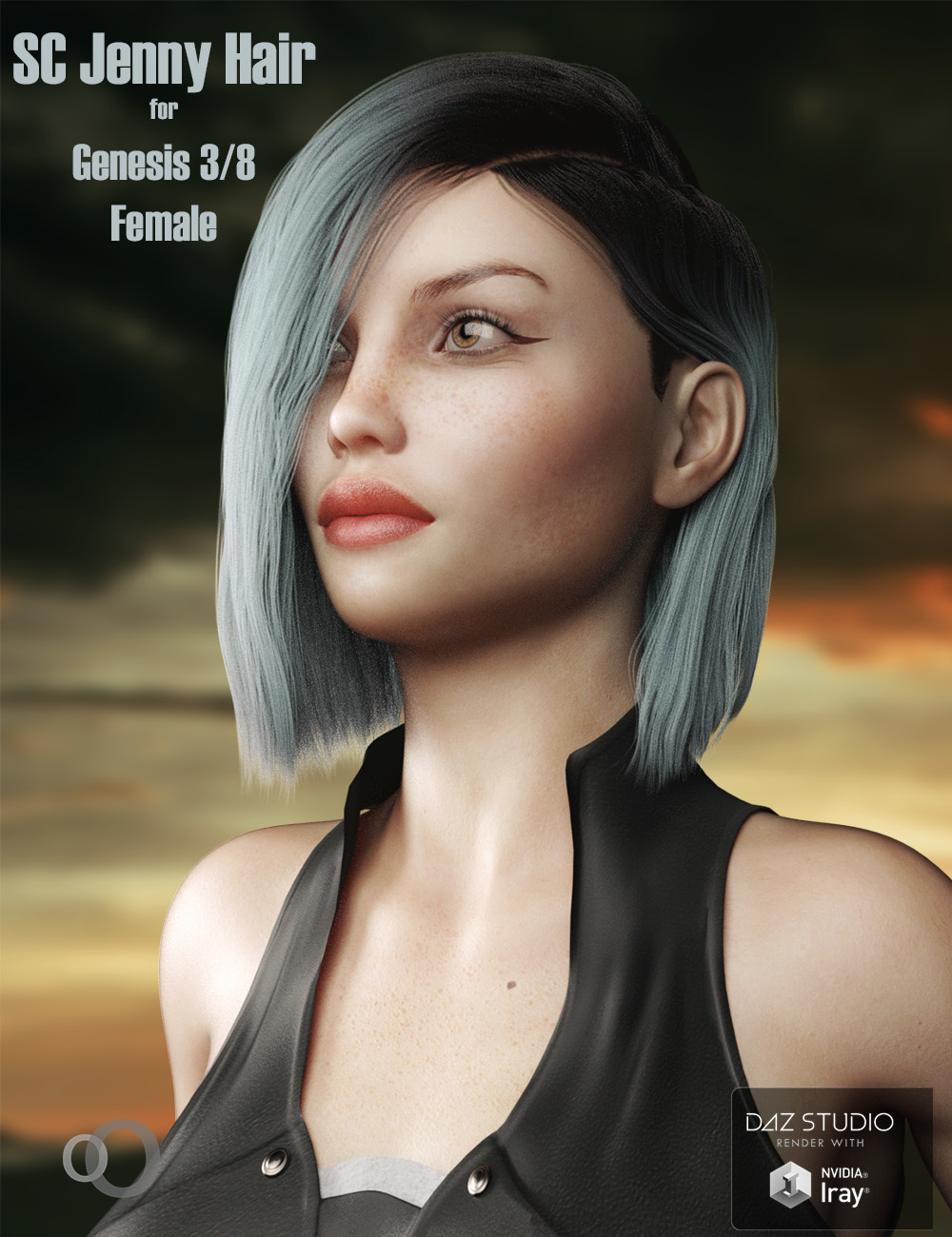 SC Jenny Hair for Genesis 3 and 8 Females