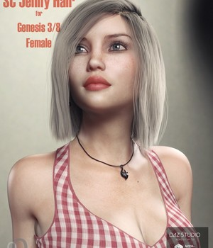 SC Jenny Hair for Genesis 3 and 8 Females 3D Figure Assets secondcircle