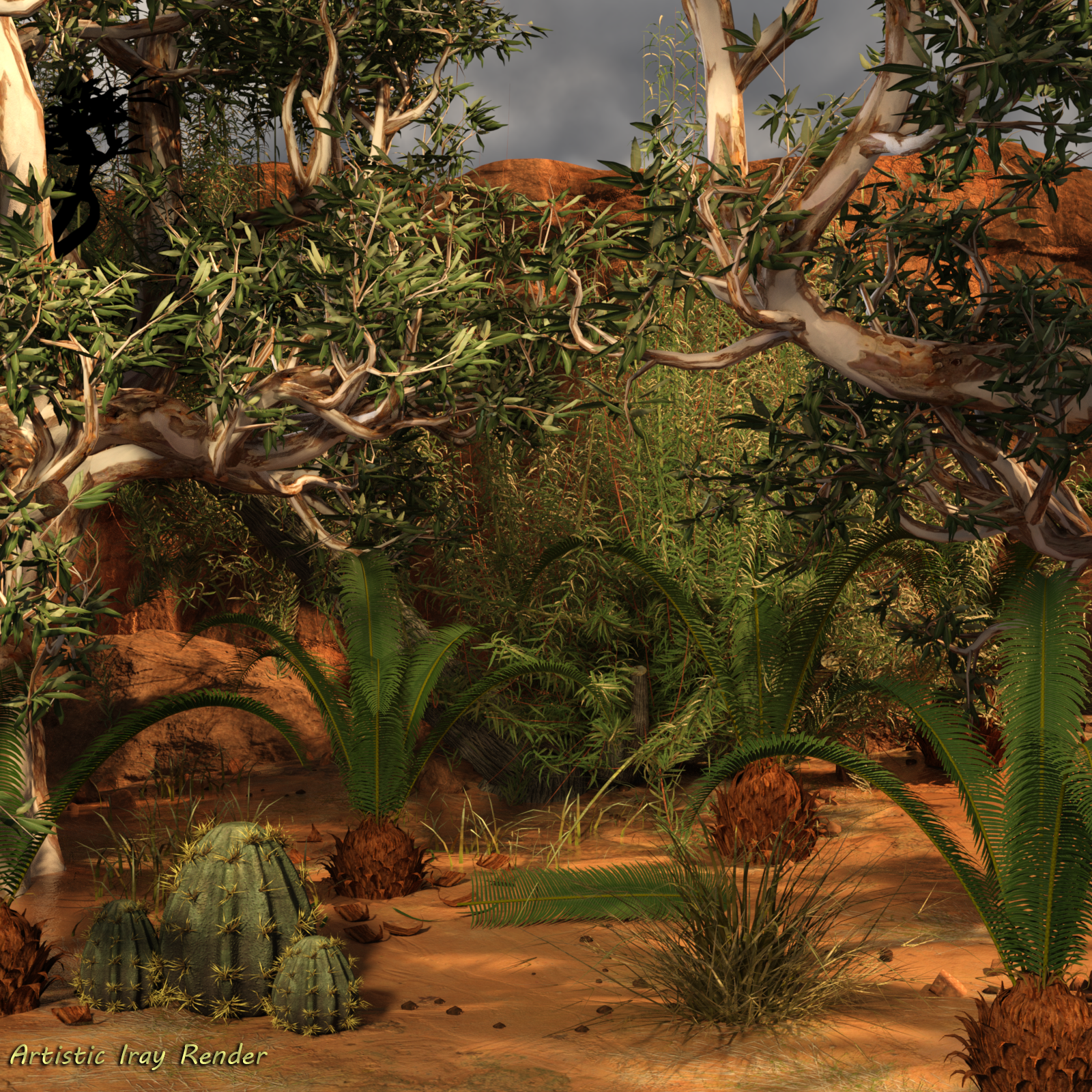 Sago Palm Prop For Daz Studio Iray Includes Mirrored Versions