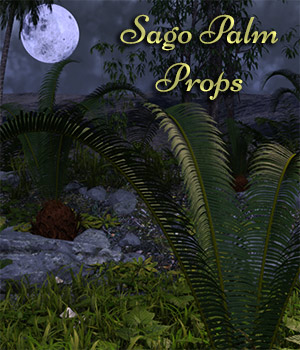 Sago Palm Prop For Daz Studio Iray Includes Mirrored Versions 3D Models fictionalbookshelf