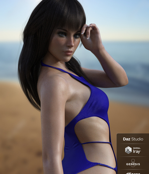 X-Fashion Babe Swimsuit for Genesis 8 Female(s) 3D Figure Assets xtrart-3d
