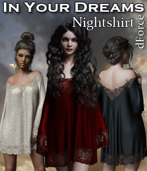 In Your Dreams dForce Nightshirt 3D Figure Assets Rhiannon