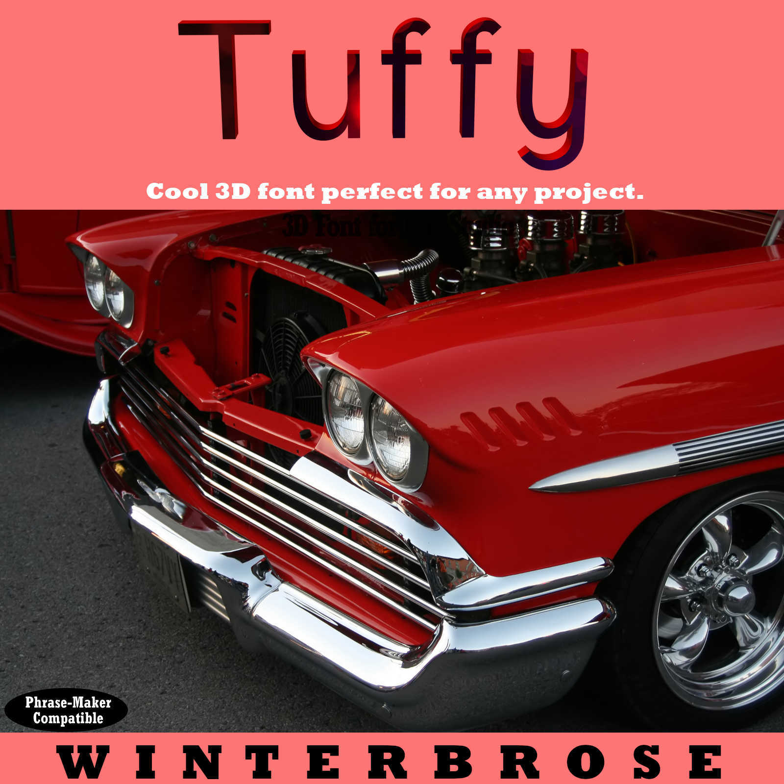 3D FONT - Tuffy3D for Daz Studio by Winterbrose