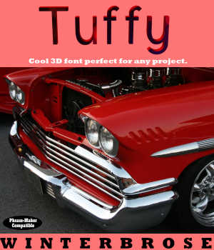 3D FONT - Tuffy3D for Daz Studio 3D Models Legacy Discounted Content Winterbrose