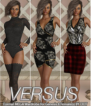 VERSUS - Formal MEGA Wardrobe for Genesis 8 Females 3D Figure Assets Anagord