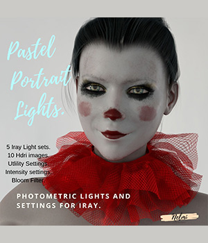 Pastel Portrait Lights Hdri 3D Lighting : Cameras nelmi