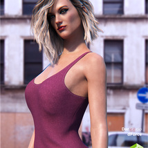 dForce Tank Top for Genesis 8 Female image 3