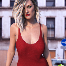 dForce Tank Top for Genesis 8 Female image 7