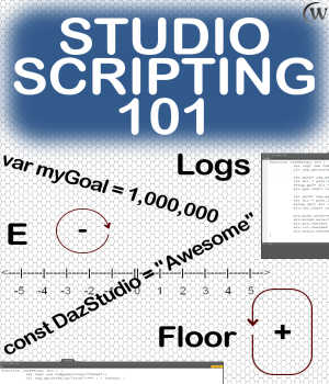 STUDIO SCRIPTING Course 101, Introduction to Daz Script Tutorials : Learn 3D Winterbrose
