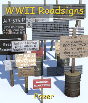 WWII Roadsigns 3D Models andreasgr