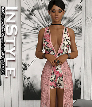 InStyle - JMR dForce Maxi Playsuit for G8F 3D Figure Assets -Valkyrie-
