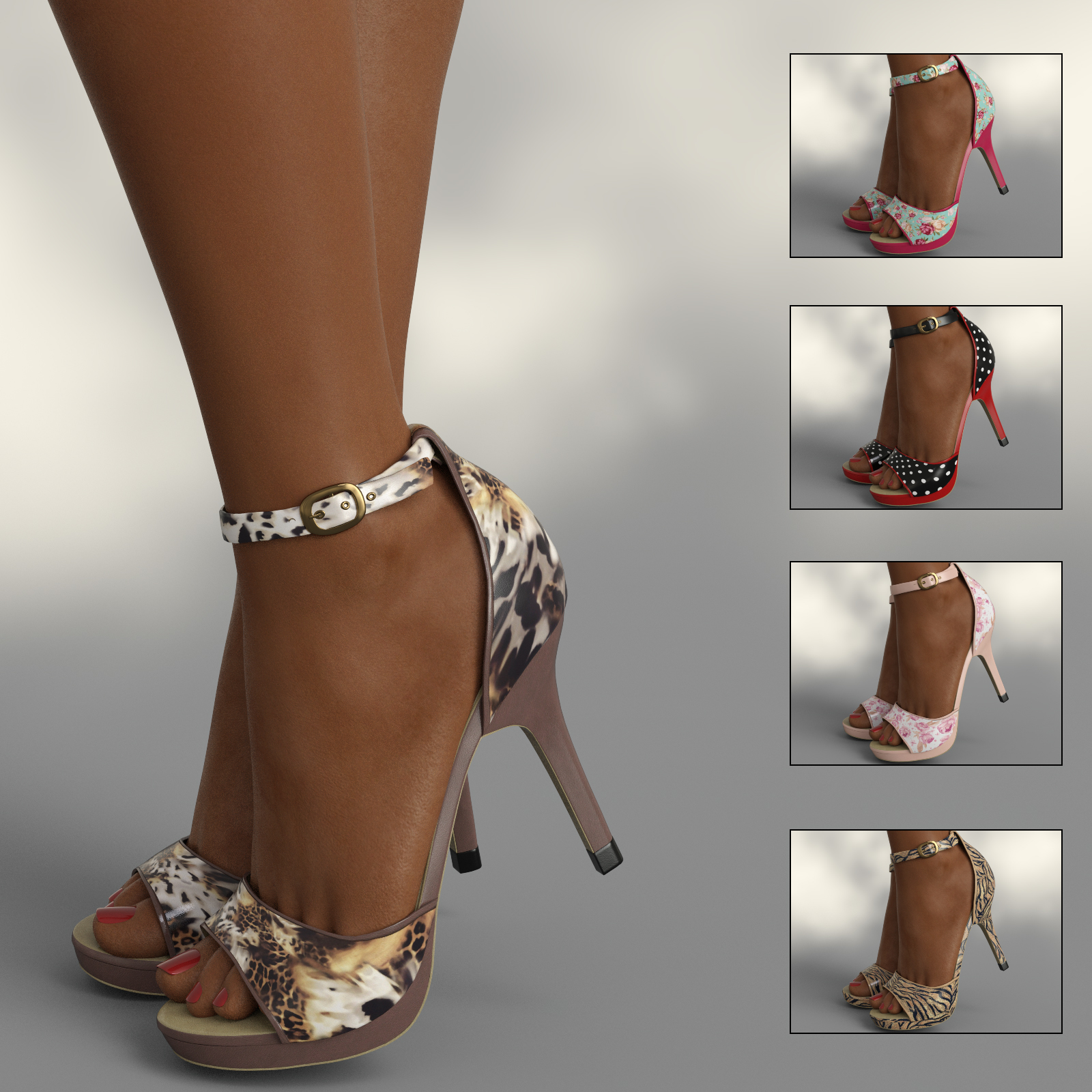 InStyle - Lysithea Shoes - for Genesis 8 and Victoria 8 by -Valkyrie-