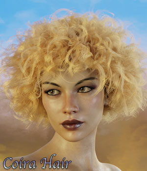 Coira Hair for G3/G8 Daz 3D Figure Assets RPublishing
