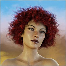 Coira Hair for G3/G8 Daz image 9