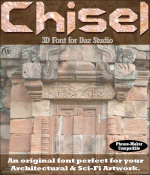 3D FONT - Chisel3D for Daz Studio Legacy Discounted Content Winterbrose