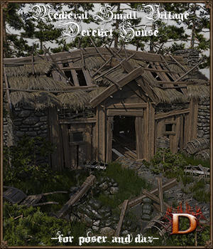 Medieval Small Village Derelict House 3D Models Dante78