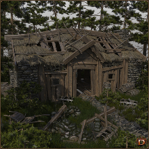 Medieval Small Village Derelict House image 1