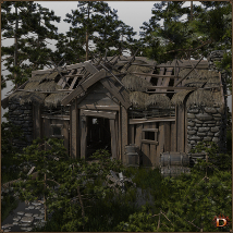 Medieval Small Village Derelict House image 2