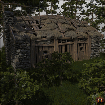 Medieval Small Village Derelict House image 3