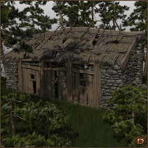 Medieval Small Village Derelict House image 4