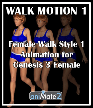Walk Motion 1 for G3F 3D Figure Assets AnyMatter