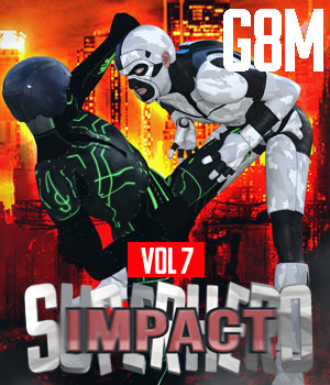 SuperHero Impact for G8M Volume 7 3D Figure Assets GriffinFX