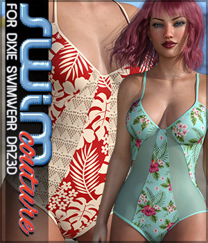 SWIM Couture for Dixie Swimwear 3D Figure Assets Sveva