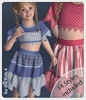 Mara Set and 14 Styles for the Kids 4 3D Figure Assets karanta