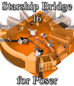 Starship Bridge 16 for Poser 3D Models VanishingPoint