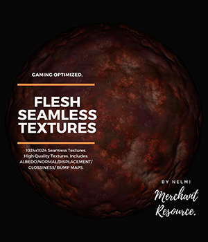 Flesh Seamless Textures - Merchant Resource 2D Graphics Merchant Resources nelmi