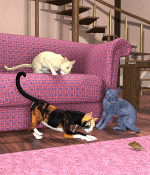 FantasticFelines for the HiveWire Housecat_Pk2 3D Figure Assets BluEcho