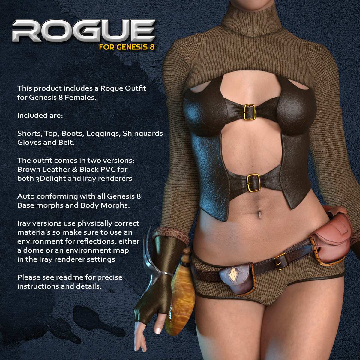 Exnem Rogue Outfit for G8 by exnem